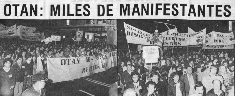 1 noviembre 1981 OTAN NO